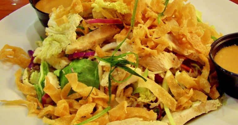 An encounter with Wolfgang Puck and his recipe for Chinois Chicken Salad