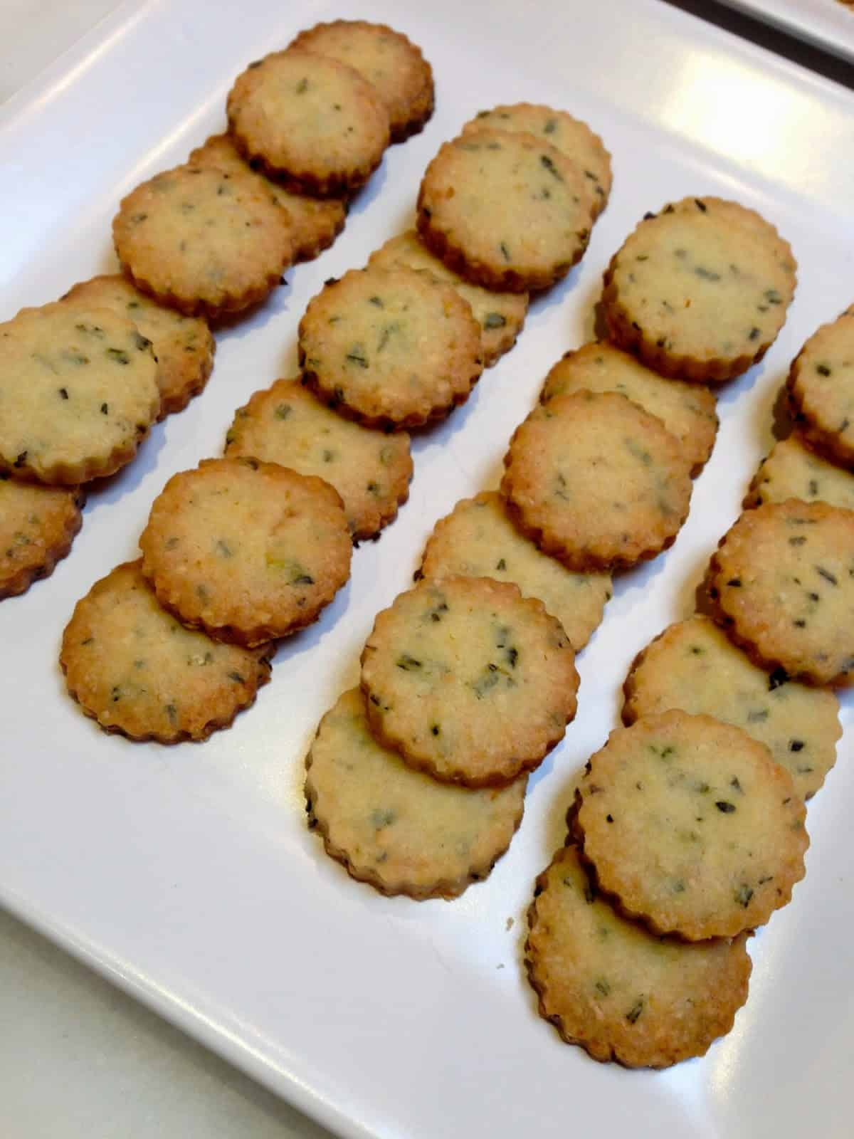 "Dorie Greenspan's Sweet and Savory Sablés: French Shortbread and Rosemary Almond Parmesan ""Cocktail"" Cookies"