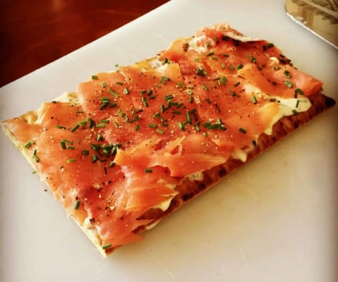 """Ina Garten's Smoked Salmon Pizzas from """"Cooking for Jeffrey"""""""