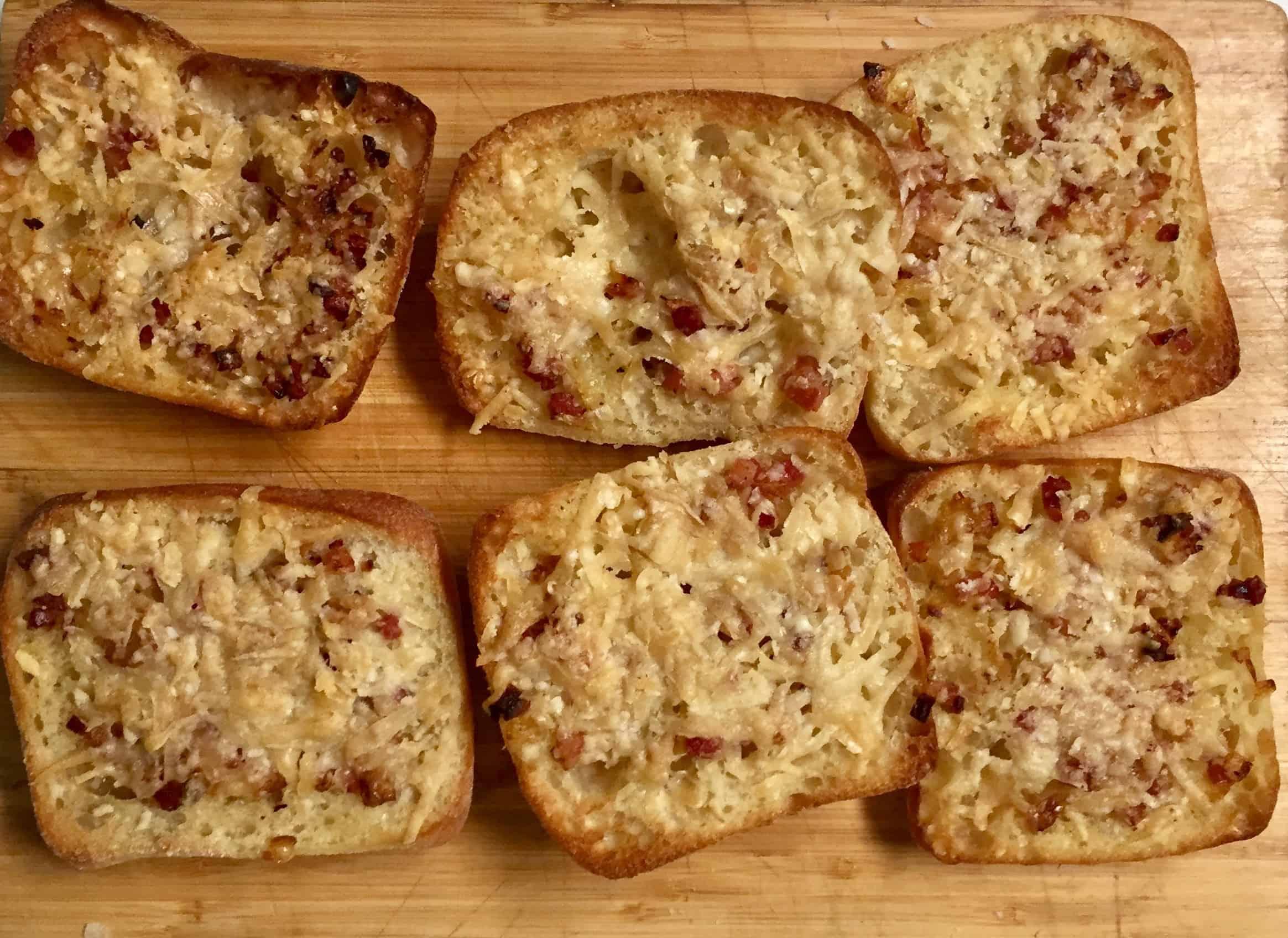 Parmesan and Pancetta Toasts