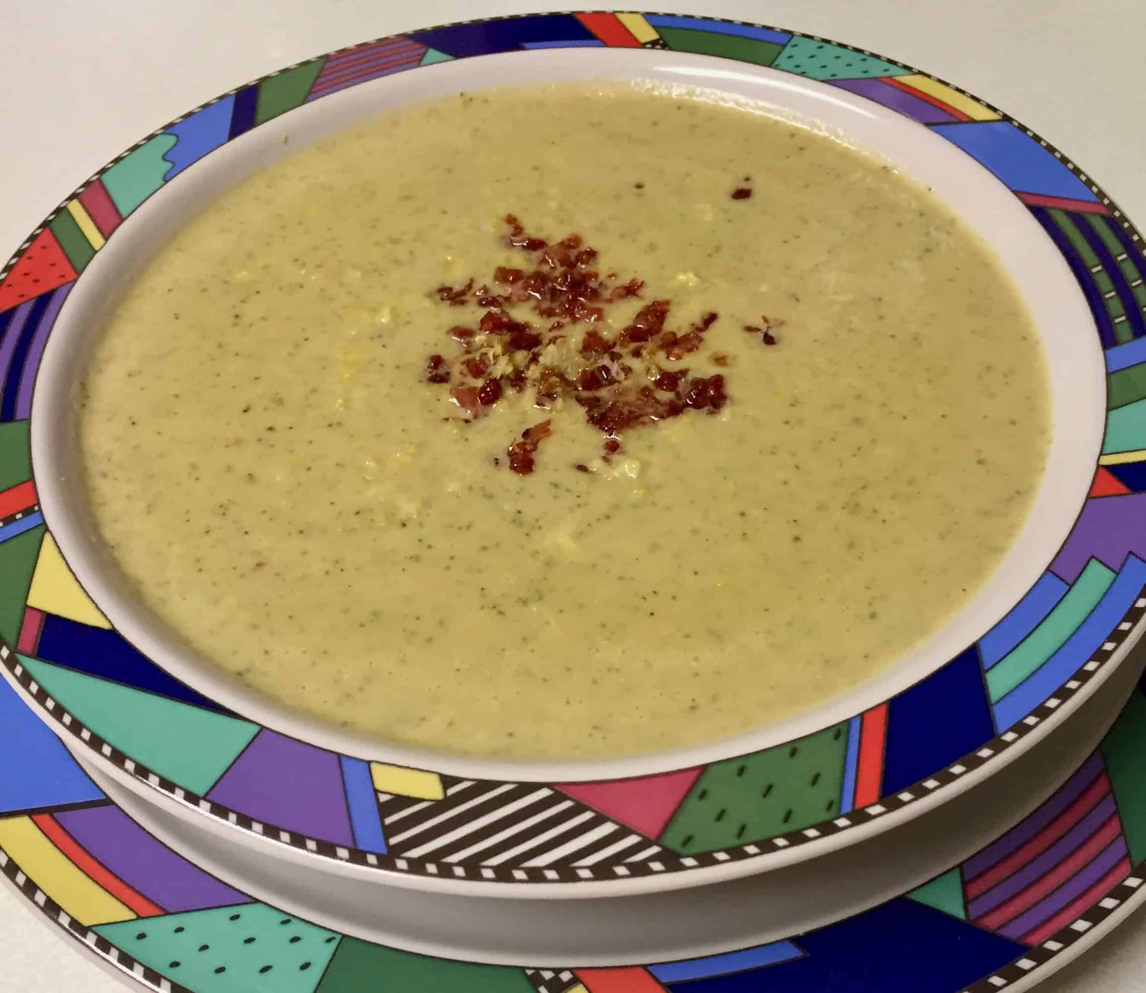Fresh from my Cheese Journey: Broccoli and Blue Cheese Soup