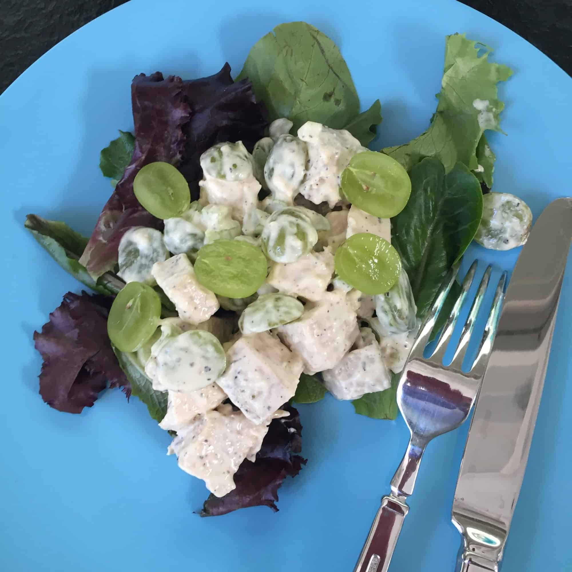 A riff on Ina Garten's Chicken Salad Veronique