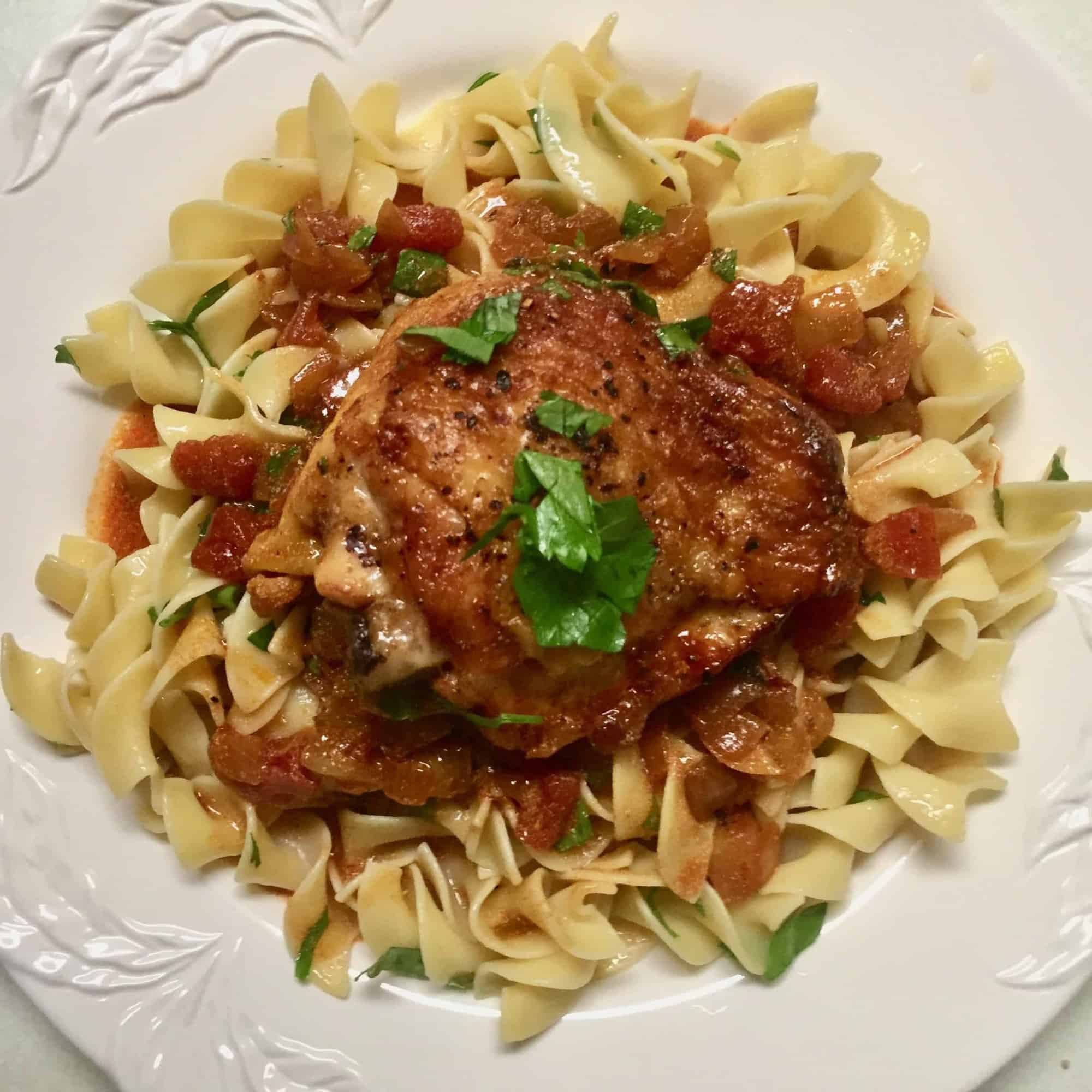 Claire Saffitz' Chicken Paprikash with Buttered Egg Noodles