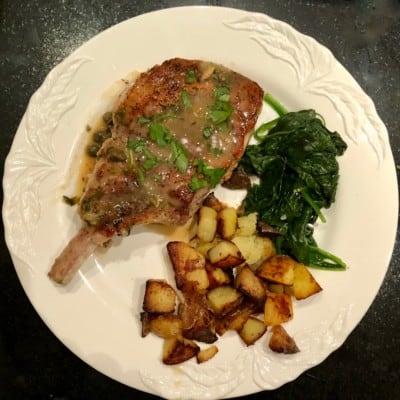 Pork Chops in Lemon-Caper Sauce from Toni Tipton-Martin
