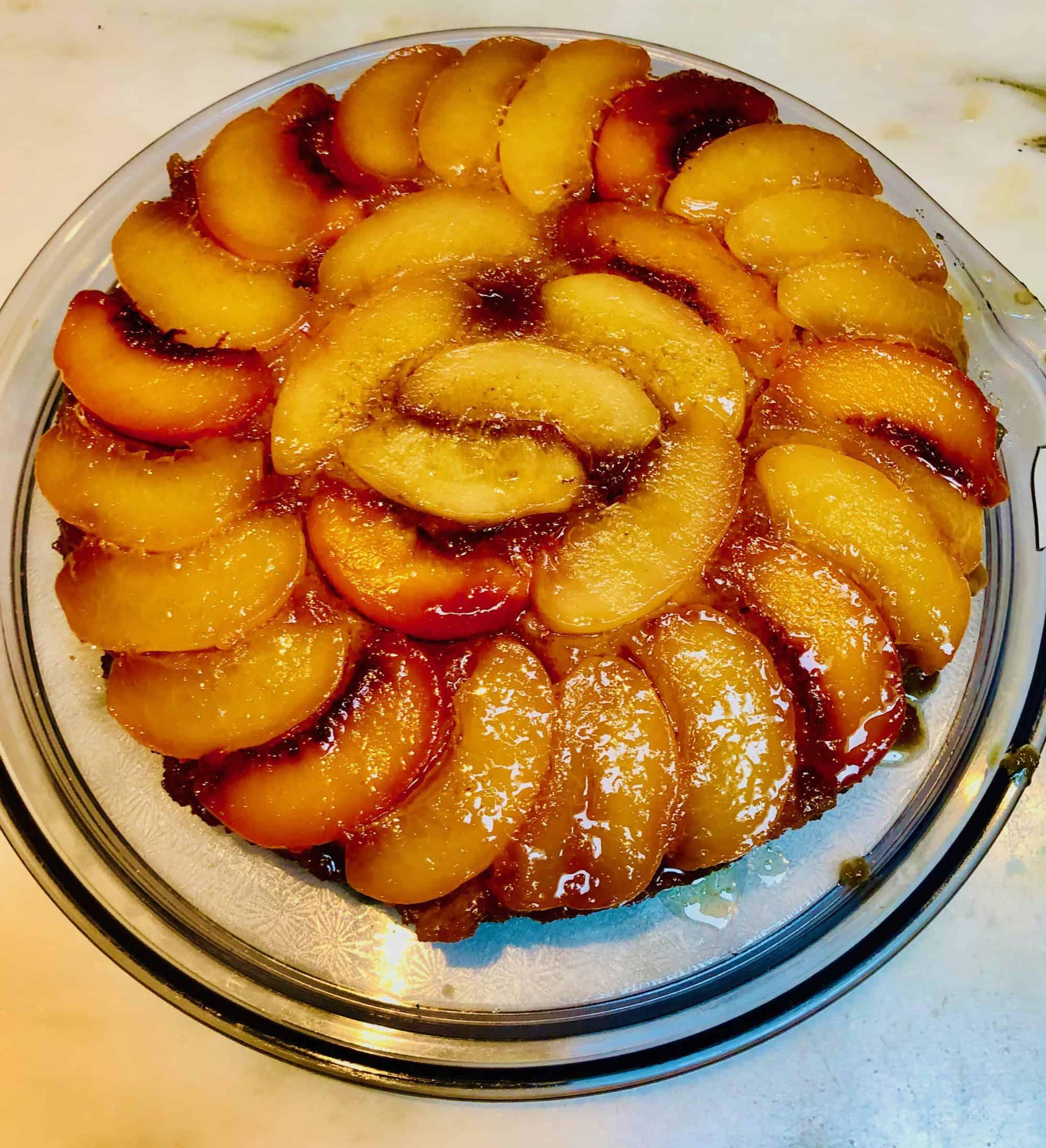Tyler Florence's Peach-Almond Upside-Down Cake