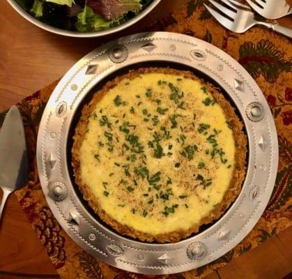 Nadiya Hussain's Rosti Cheese Quiche